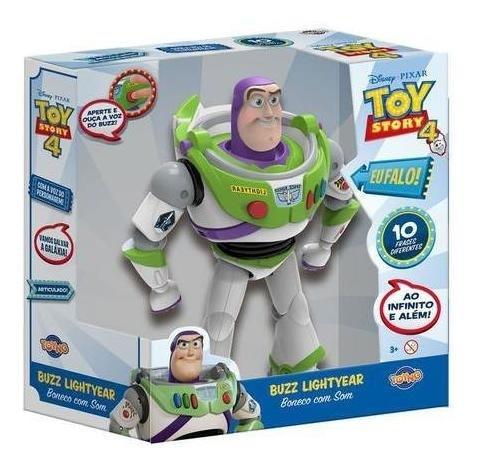 Boneco Buzz Lightyear com Som Toy Story 4 38169 TOYNG