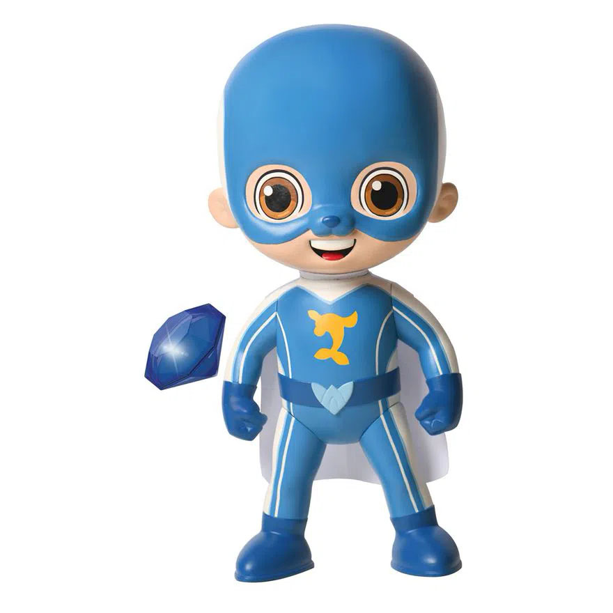 Boneco Luccas Neto Super Foca Aventureiro Azul N1077 ROSITA