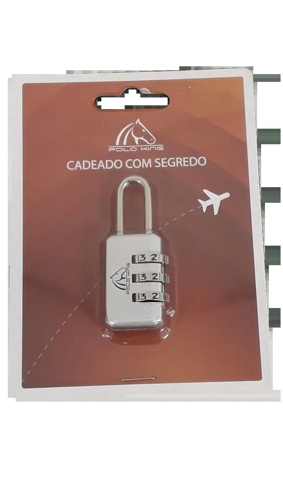 Cadeado com 3 segredos Prata CD0051500UN LUXCEL