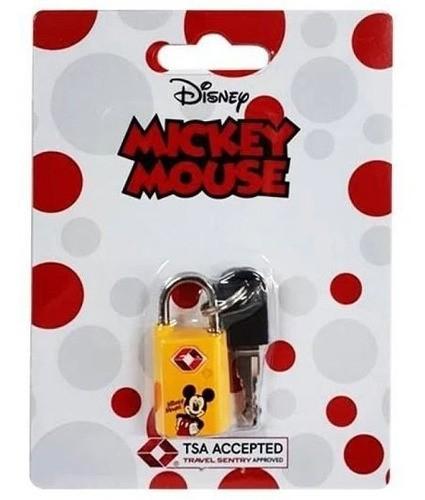Cadeado com Chave Mickey Amarelo CD0012MY-AM LUXCEL