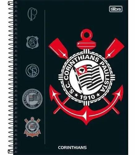 Caderno 10 Matérias Corinthians Capa Dura 160 Fls Capa 1