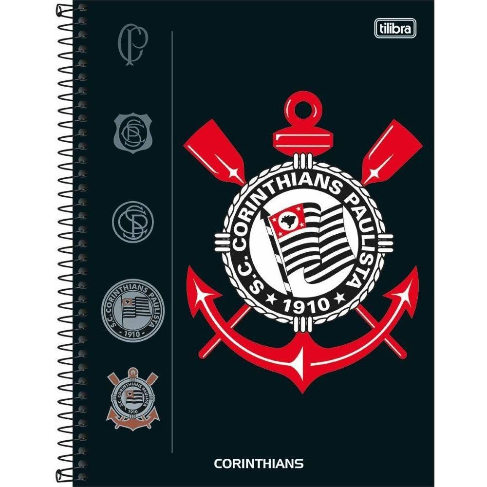 Caderno 1 Matéria Corinthians Capa Dura 80 Fls.