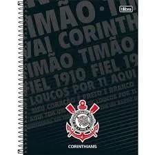 Caderno 1 Matéria Corinthians Capa Dura 80 Fls. capa 2