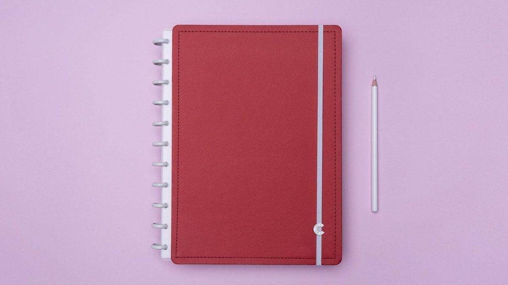 Caderno Grande Vermelho Cereja 80F CIGD4049 CADERNO INTELIGENTE