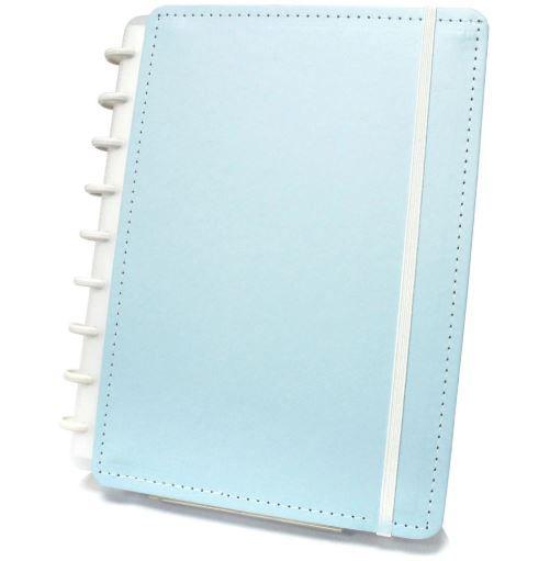 Caderno Inteligente Azul Pastel Tamanho Grande 80 folhas CIGD4035