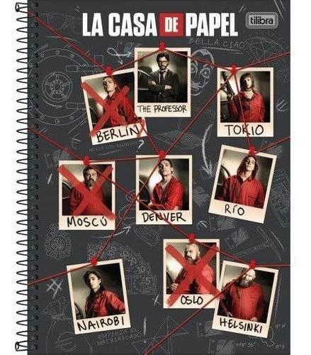 Caderno La Casa De Papel 10 Matérias Tilibra Capas Variadas - 160 Folhas