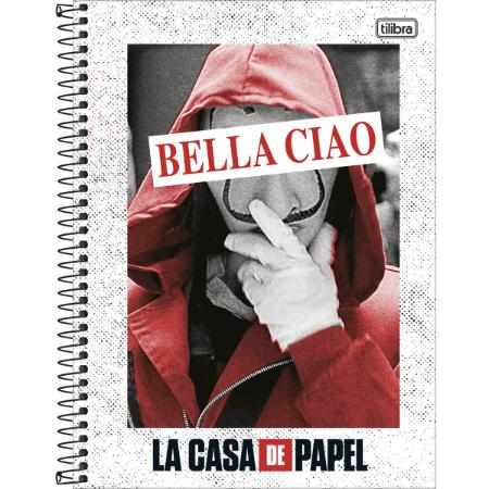 Caderno La Casa de Papel 1Mat 80Fls 293849 TILIBRA
