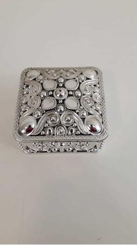Caixa Plástica Quadrada G Prata Lembrancinha CP-0126G ART LILLE