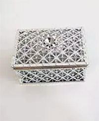 Caixa Retangular Plástica Metal Lembrancinha CP-0133 ART LILLE