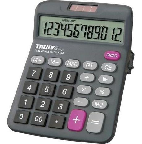 Calculadora de Mesa 12 digitos 833-12 TRULY