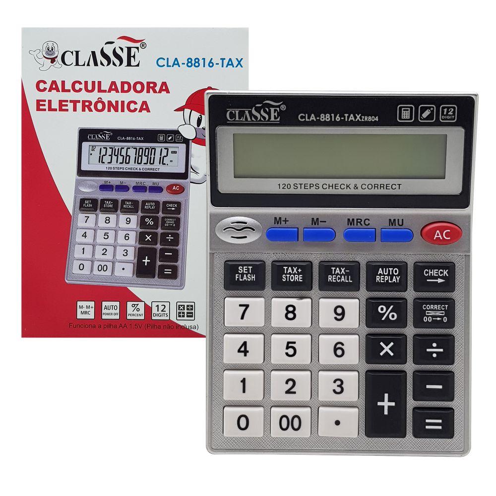 Calculadora de Mesa 12 Digitos CLA-8816-TAX CLASSE