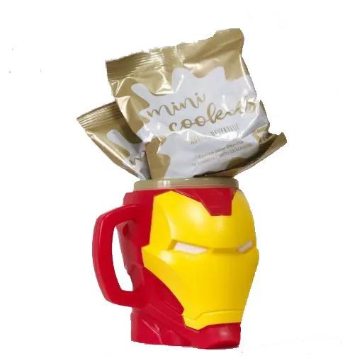 Caneca com Cookies 250 ml Homem de Ferro - Cromus