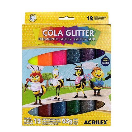 Cola Glitter 23G 12 Cores 02922 ACRILEX