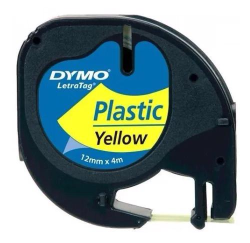 Fita Rotuladora Elétrica Plástica PT/AM 12MMX4M 91332 DYMO