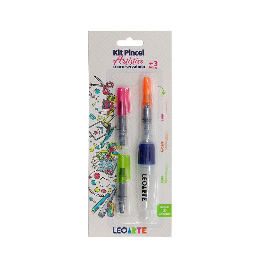 Kit Pincel Artístico C/ 3 Pontas 77001 LEO E LEO