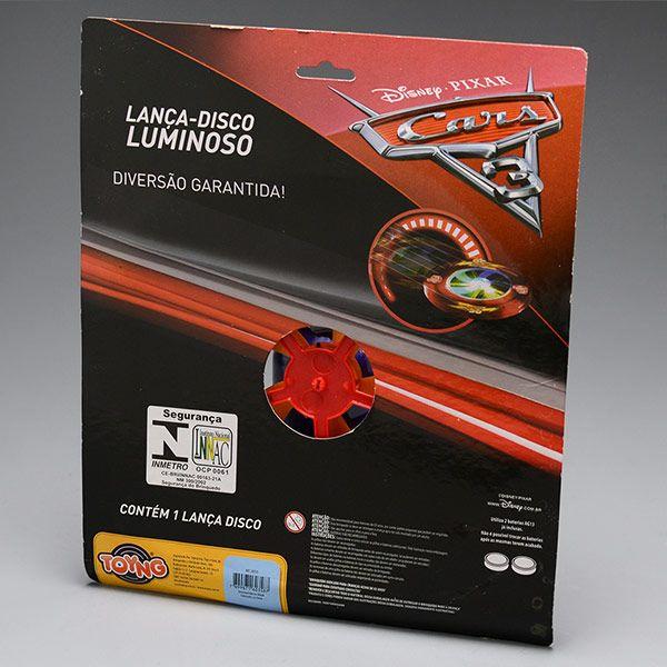 Lança Disco Luminoso Carros 3 TOYNG