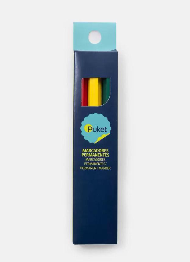 Lancheira para Colorir + 3 Marcadores PUKET