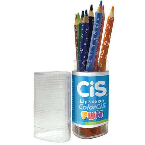 Lápis de Cor 12 Cores Jumbo ColorCis CIS