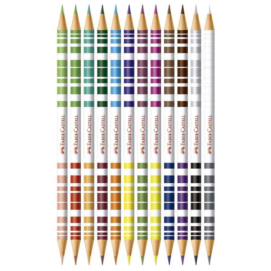 Lápis de Cor 12 Lápis/24 Cores Bicolor FABER CASTELL