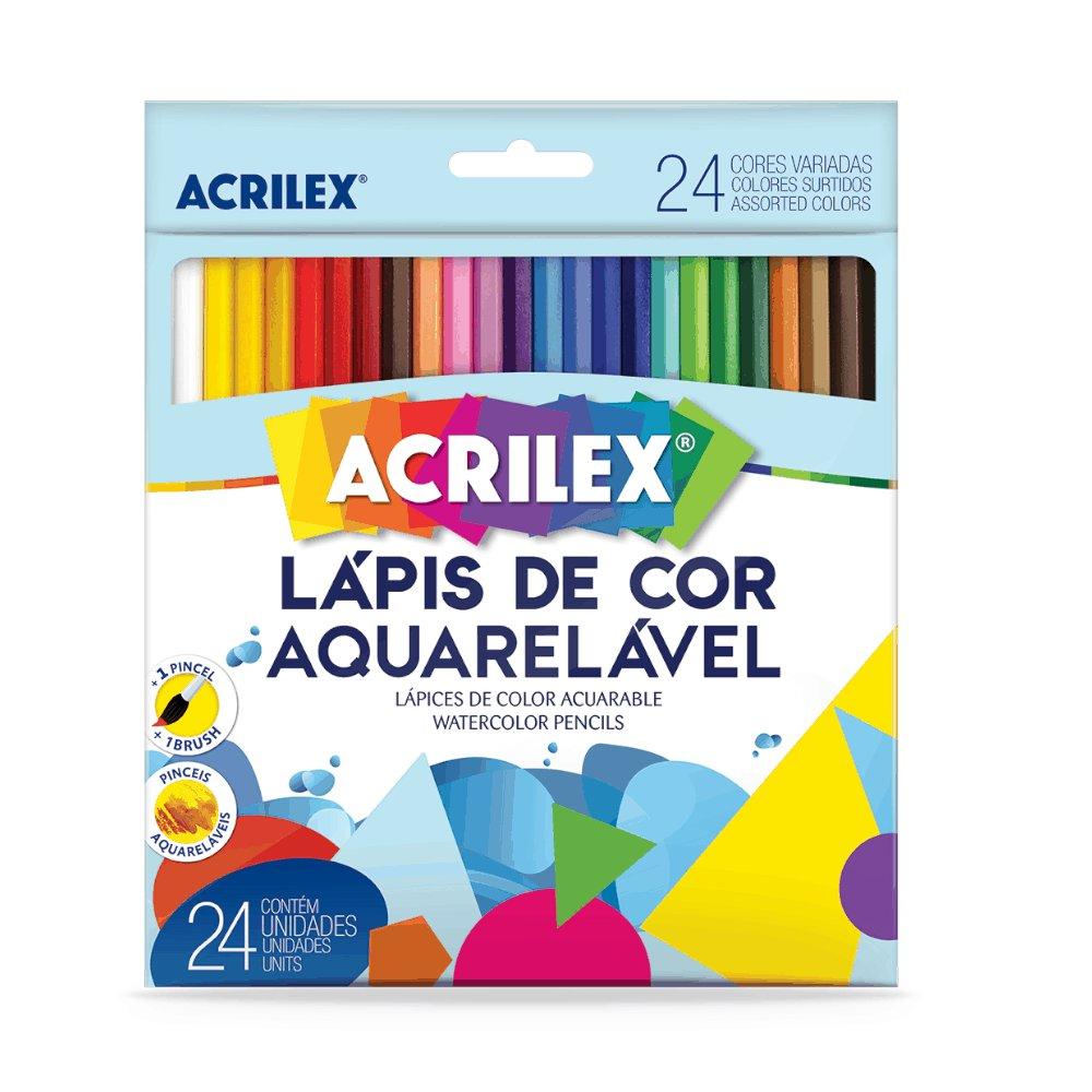 Lápis de Cor Aquarelavel 24 Cores ACRILEX