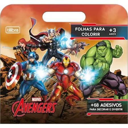 Livro Para Colorir 8 Folhas Avengers