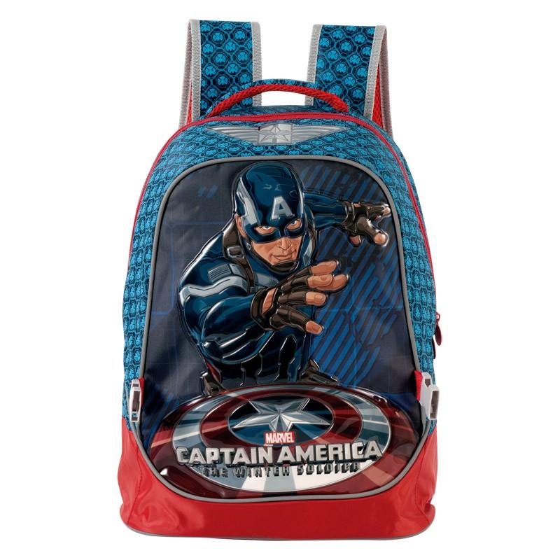 Mochila Capitão América Shield Infantil 5012 XERYUS