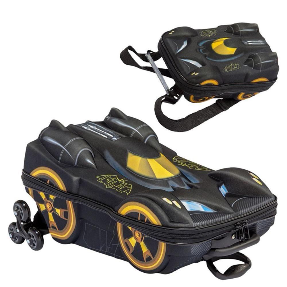 Mochila com rodinha e Lancheira Batman Batmóvel BEWARE 2805 DIPLOMATA