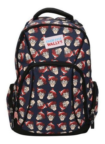 Mochila Onde Está o Wally Azul Luxcel