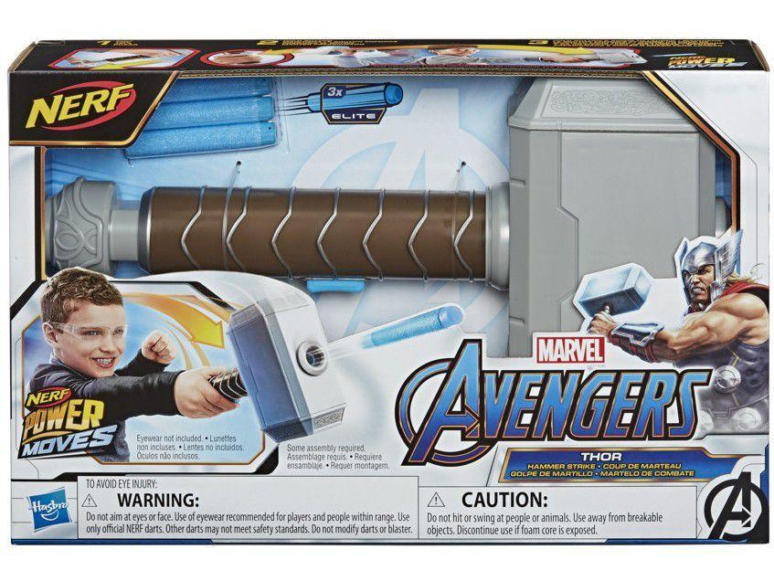 Nerf Martelo Thor Vingadores POWER MOVES E7379 HASBRO
