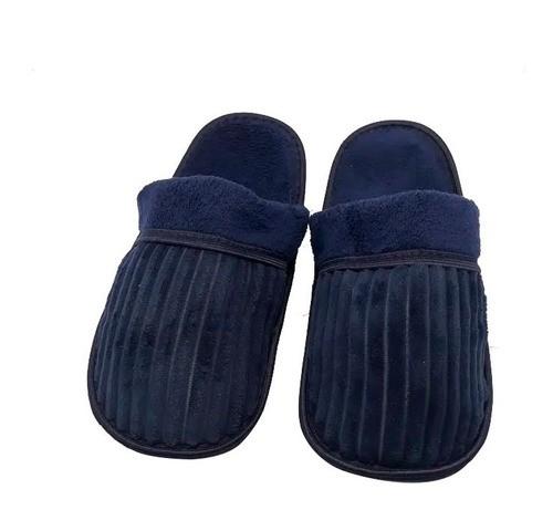Pantufa Chinelo Azul Número 41 TX6257 CLASSE