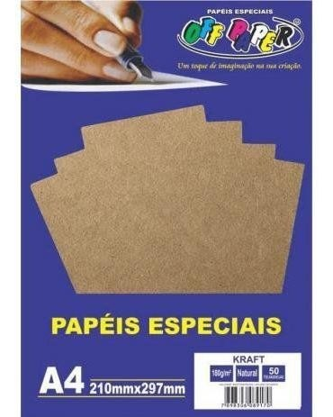 Papel Kraft 180GRS Natural 50FLS OFF PAPER