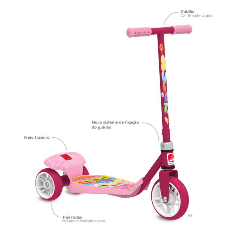 Patinete Sweet Game 1561 BANDEIRANTE