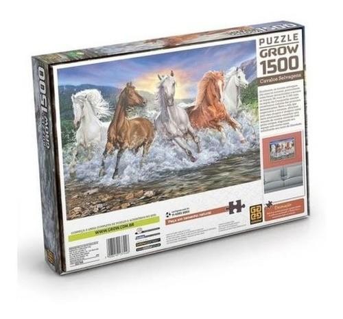 Quebra-Cabeça 1500 peças Cavalos 03744 GROW