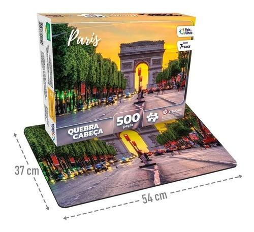 Quebra Cabeça 500 Peças Paris 2978 PAIS E FILHOS