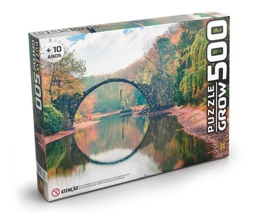 Quebra Cabeça 500 Peças Ponte Espelhada 03732 GROW