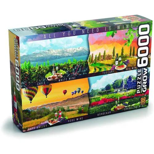 Quebra Cabeça 6000 Peças Vinhos Mundo 3416 GROW