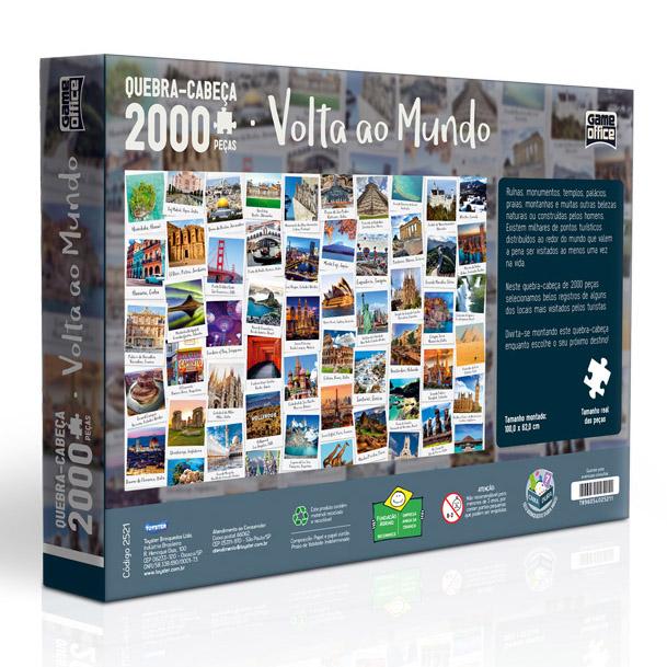 Quebra Cabeças 2000 peças Volta Ao Mundo TOYSTER