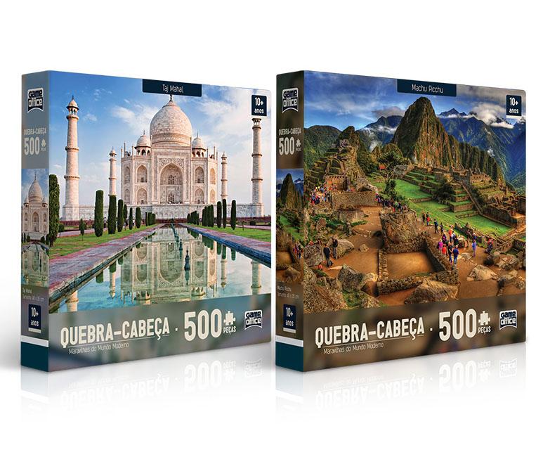 Quebra Cabeças 500 peças Maravilhas do Mundo Moderno TOYSTER