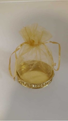 Saquinho de Organizar com Bandeja Oval Ouro CP-0145 ART LILLE