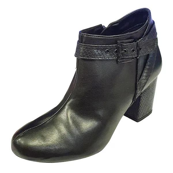 Ankle Boot com Fivela Croco - Preto