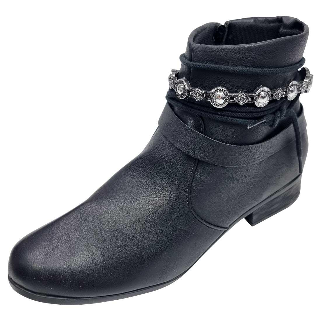 Ankle Boot com Tornozeleira - Preto