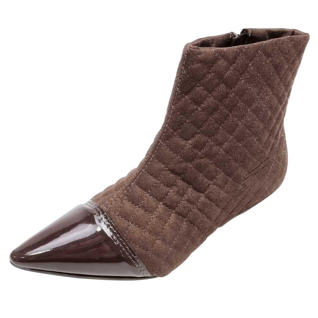 Ankle Boot Matelassê - Marrom
