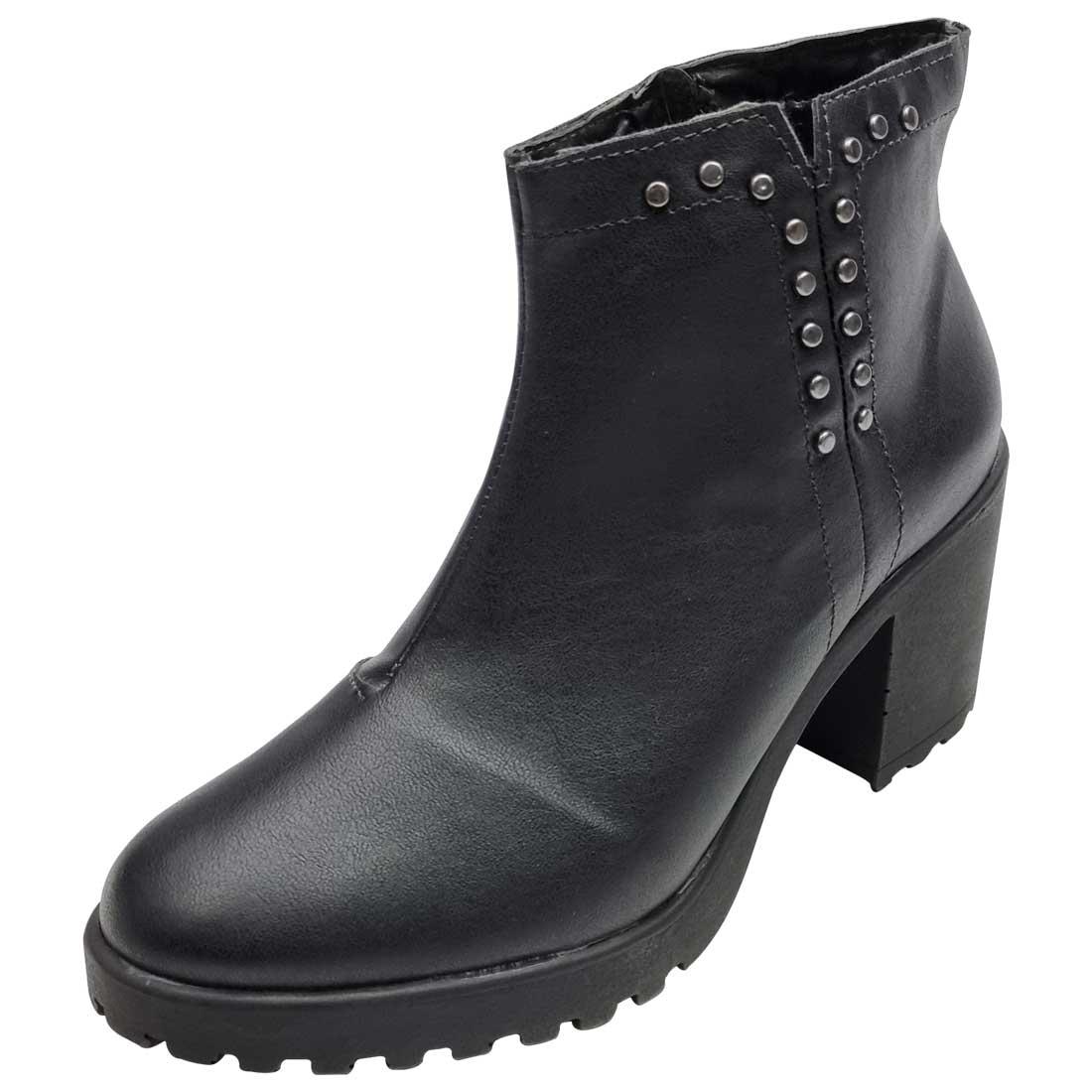 Ankle Boot Salto Tratorado - Preto