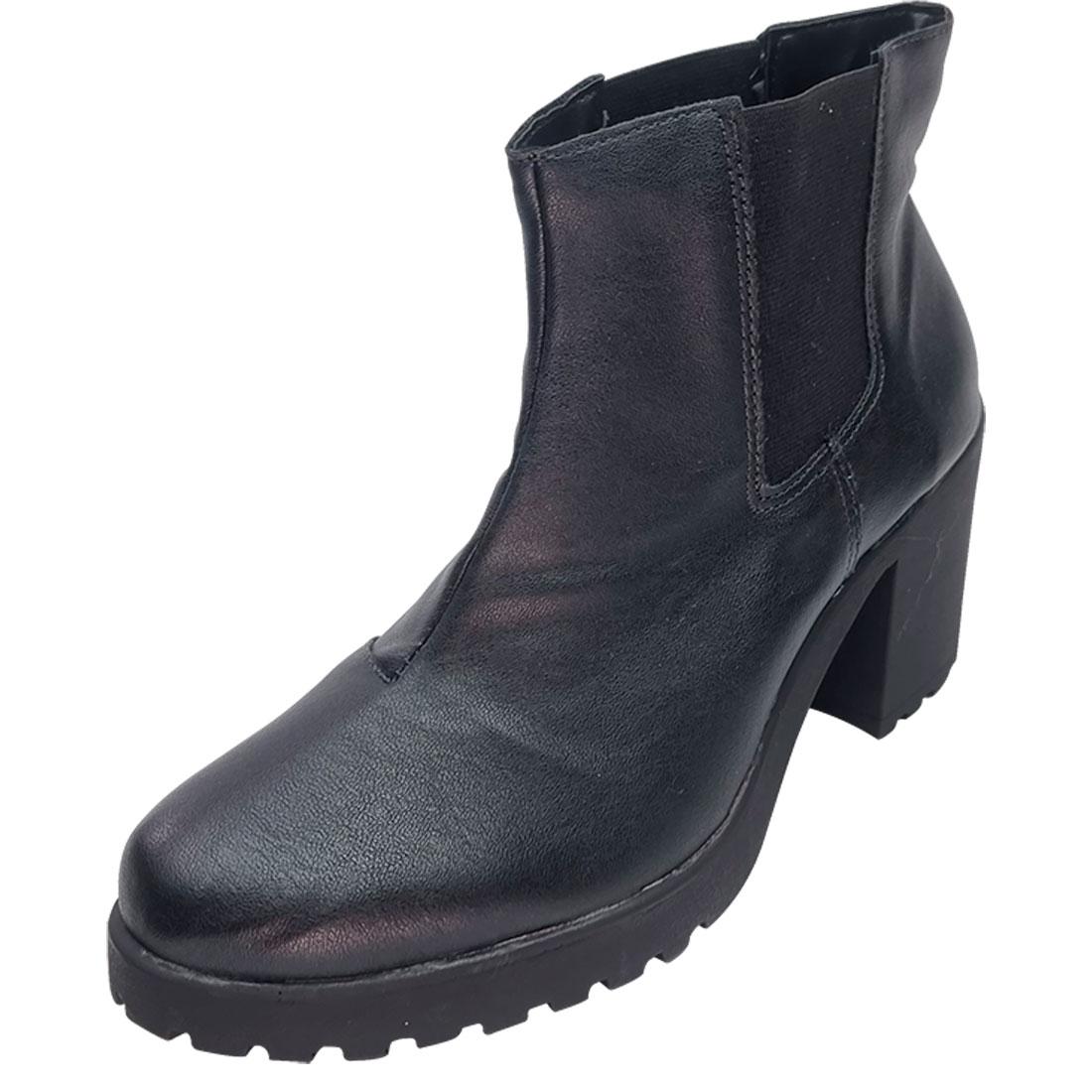 Ankle Boot Tratorado com Elástico - Preto