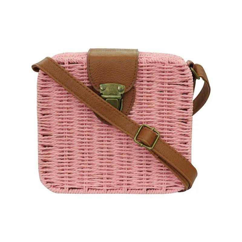 Bolsa de Palha - Pink