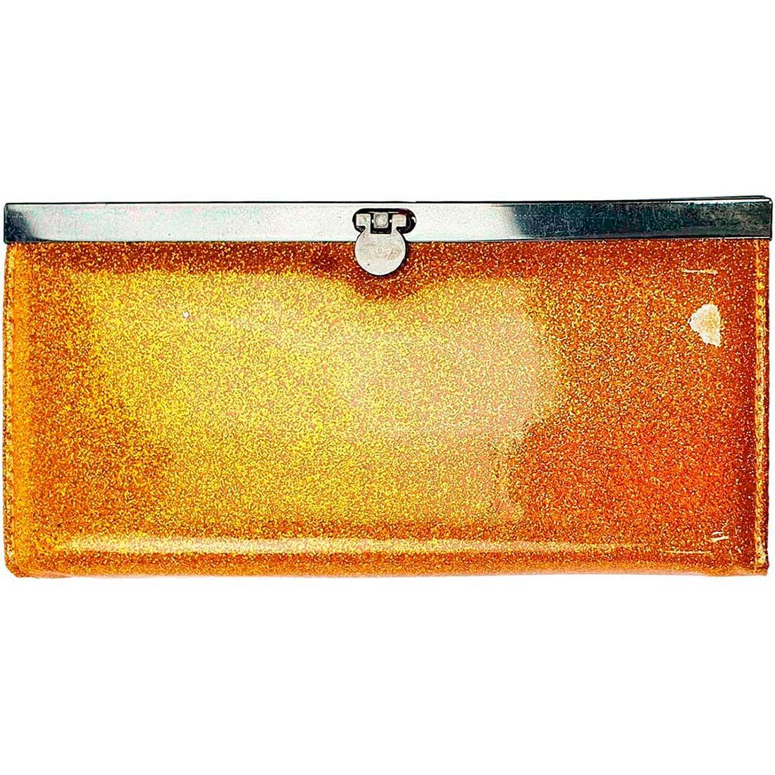 Carteira Glitter Verniz - Amarelo
