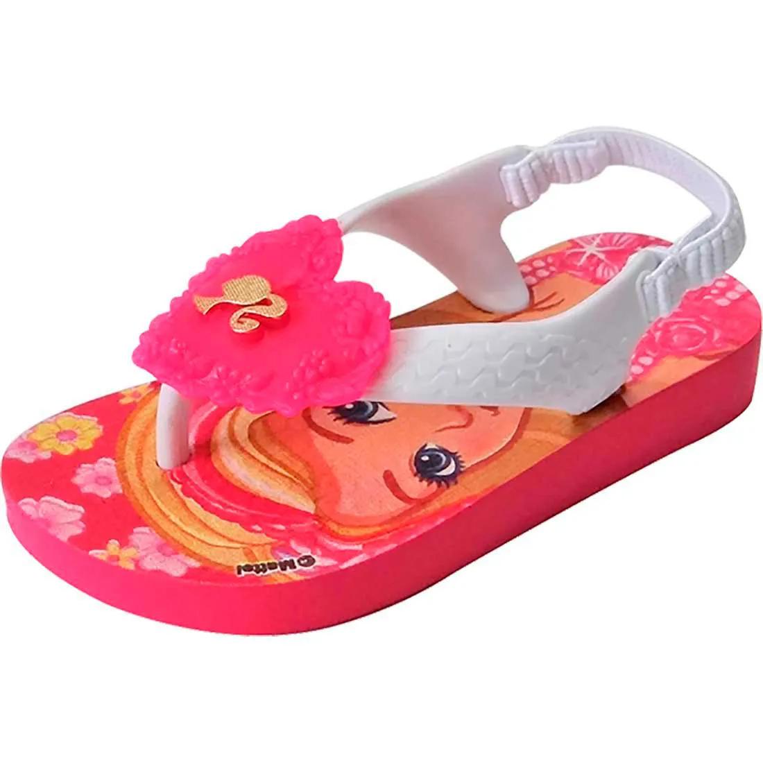 Chinelo Barbie - Rosa e Branco