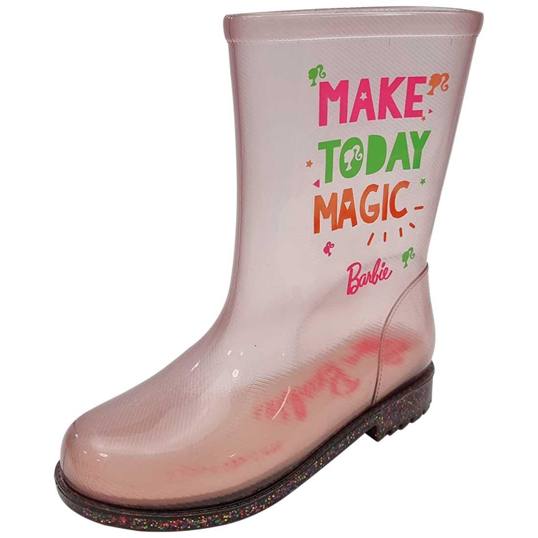 Galocha Baby Barbie Fun Day - Rosa e Glitter Misto