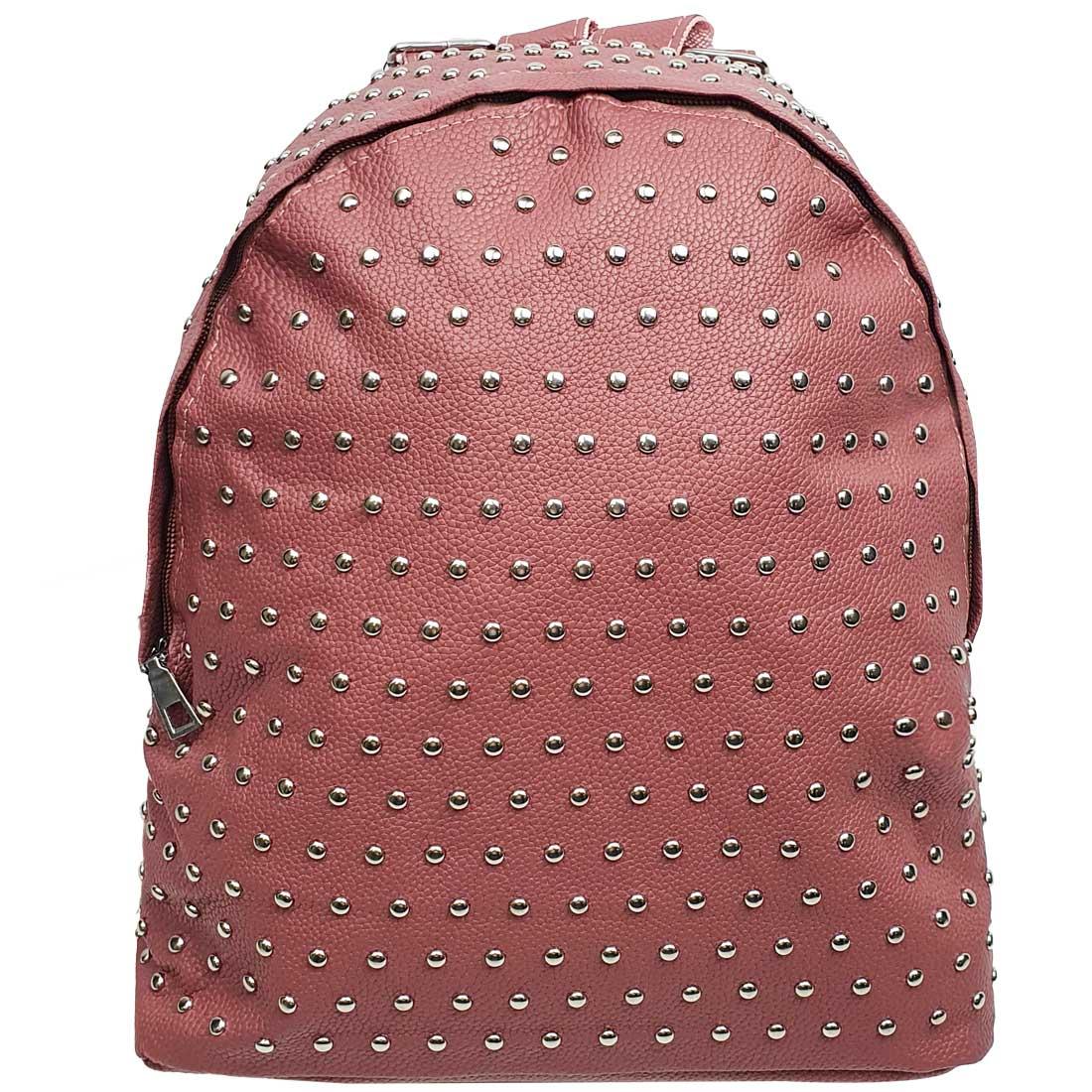 Mochila com Bolinhas em Metal - Rosé