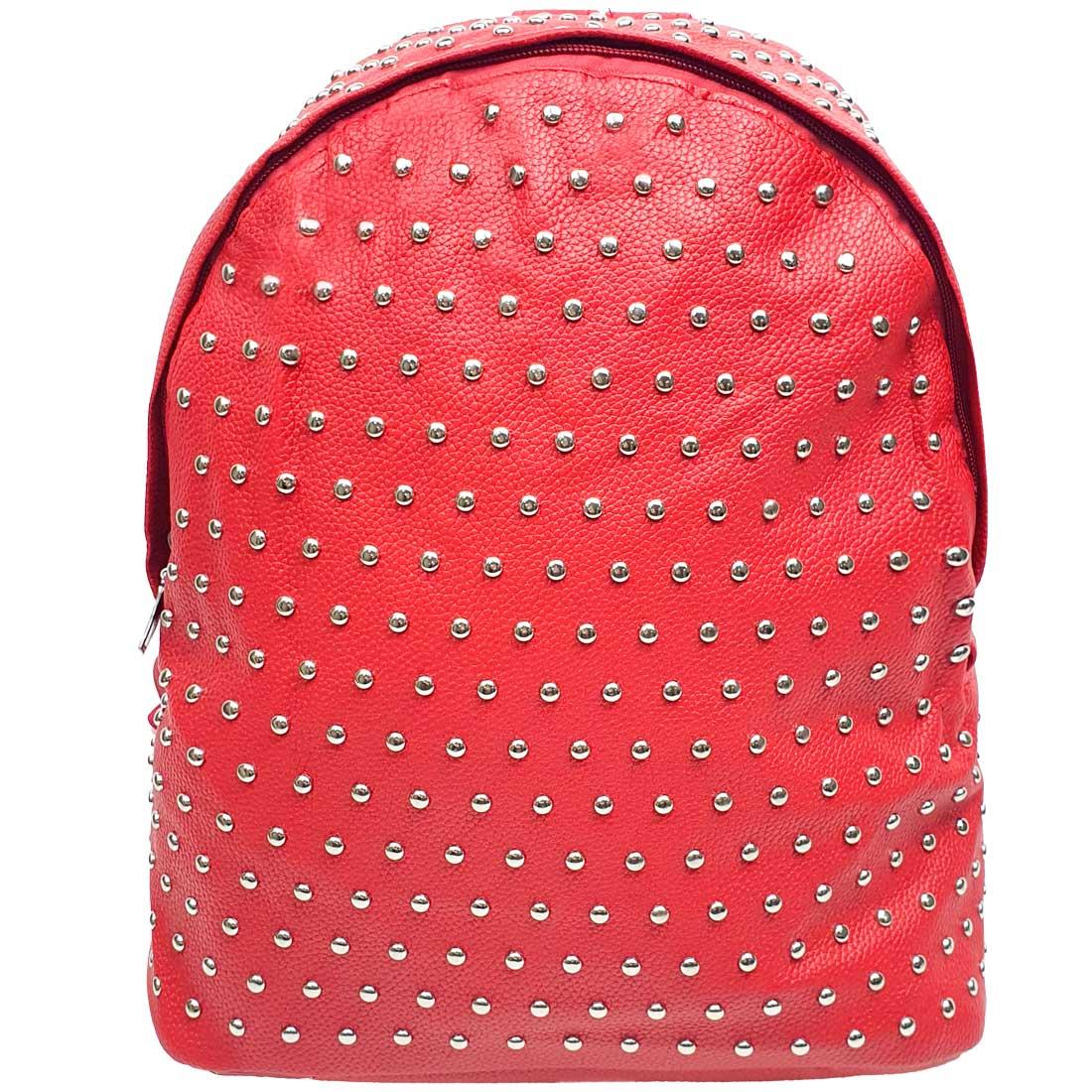 Mochila com Bolinhas em Metal - Vermelha